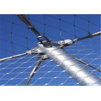 Stainless Steel Zoo Wire Mesh , Knitted Animal Enclosure Mesh Fence Manufactures
