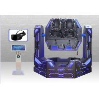 2 Seats 9D Virtual Reality Simulator Iron Warrior All - Axis Rotation 9D Roller Coaster Manufactures