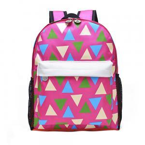 Pink Printing Polyester Kids School Backpacks For Teenage Girls 28*37*12 CM Manufactures