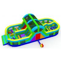 China Outdoor Indoor Inflatable Park , 0.55mm Pvc Tarpaulin Kids Bounce House on sale