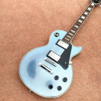 New style high quality custom LP electric guitar, metallic blue, chrome hardware electric guitar, free shipping Manufactures