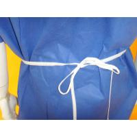 Comfortable Non Woven Surgical Gown Flat Round Neck Style SMS PP Material Manufactures