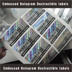 Tamper Evident Destructible Vinyl Laser Labels High Security With Custom Pattern Manufactures