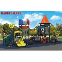 China Orange Brown Green  Outdoor Playground Equipments For Kids Imported LLDPE on sale
