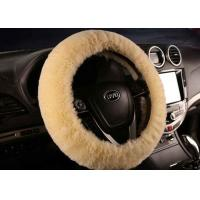 Anti Slip Warm Winter Fluffy Car Steering Wheel Covers With Soft Nap Manufactures