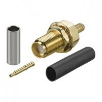 Gold SMA Male Female Coaxial Connector Bulkhead Crimp With Reverse Polarity Plug Manufactures