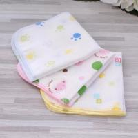 Quick Dry Organic Bamboo Washcloths , Pure Muslin Face Cloths Various Colors Manufactures