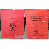 biohazard red color disposable plastic medical bags, Autoclave Biohazard Bags Medical Disposable Plastic Bags, bagease Manufactures