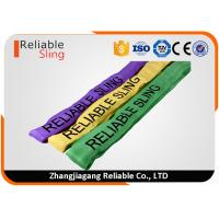 Custom Print Logo Heavy Duty Polyester Round Slings for Lifting Loads Manufactures