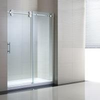 "Tempered Sliding Glass Door Shower Enclosure Replacement , 48"" Shower Door Manufactures"