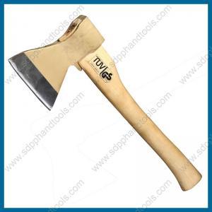 China russia type axe with hardwood handle, striking tools, short wood shaft hatchet, high quality hatchet on sale