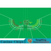Polyester Fabric Casino Table Layout Can Be Folded Convenient To Carry Manufactures
