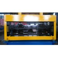 Aluminum Galvanized Floor Deck Roll Forming Machine Width With Pre - Cutting Manufactures