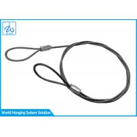 China Safety Lanyard Tool Cable Ends Wire Rope Loop For Wire Suspension Systems on sale