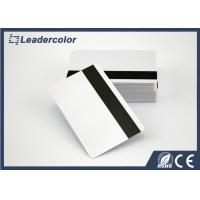 ISO White RFID Chip Card / Blank Magnetic Strip Card Signature Panel Manufactures