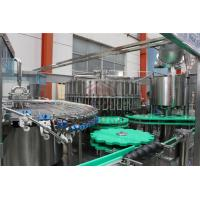 China Glass Bottle Juice Filling Line / Fruit Juice Bottling Capping Equipment on sale