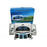 Two LCD discreen display White color Dual persons use detox foot spa machine 110-240V Manufactures