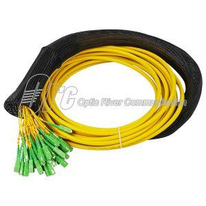 China 48F Single Mode Fiber Optic Pigtail LSZH SC/APC Connectors on sale