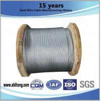 Commercial 1 8 Inch Zinc Coated Steel Wire Strand Stress - Relieved For Bridges Manufactures