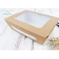 Disposable Meal Containers Biodegradable Take Out Food Containers With Window Manufactures