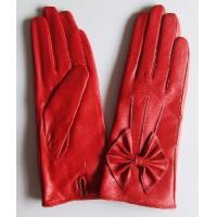 Lady′s Fashion Leather Gloves with Bowknot (CF3243) Manufactures