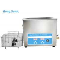 High Frequency Heated Ultrasonic Cleaner , 10L 450W Ultrasonic Washing Machine Manufactures