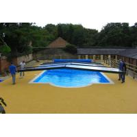 Swimming Pool Rubber Flooring , Corrosion Resistant Rubber Pellet Flooring Manufactures