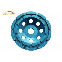 Double Row Diamond Cup Grinding Wheel For Concrete , 100mm Angle Grinder Concrete Wheel Manufactures