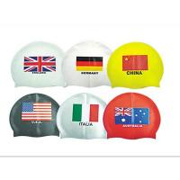 Buy cheap national flag swim cap from wholesalers