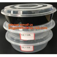 Reusable Take Away Plastic Salad Bowl With Fork And Dressing box and Source Container,Disposable take away plastic salad Manufactures