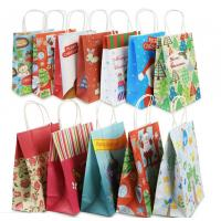 Eco Friendly Custom Printed Paper Bags For Christmas Gift Packaging Manufactures