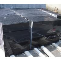 Nero Marquina Black Marble paving slabs / flooring tiles with 1 - 3cm Thickness Manufactures