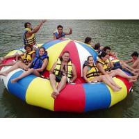 8 - 10 Person Inflatable Disco Boat Motorized Toys Semi Boat , Water Spinner Gyro Manufactures