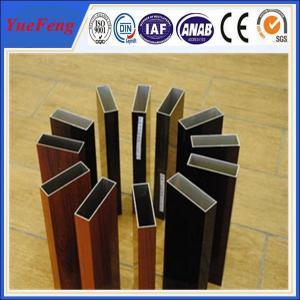 Aluminium profile wood color , OEM design 6063 grade aluminium triangle tube allibaba com Manufactures