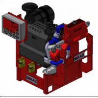 55 KW Fire Pump Engine Diesel Fuel With Compact Structure , UL / FM Aprroved Manufactures