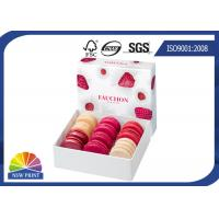 Eco-friendy Cardboard Gift Box for Macarons / Fancy Paper Dessert Gift Packaging Boxes Manufactures
