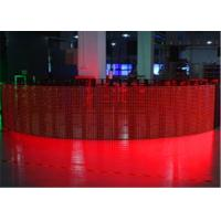 Ultra Thin P12mm Flexible LED Curtain Display LED Mesh Screen CE / CCC Manufactures