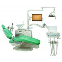 Environmental Leather Dental Chair Unit With Low Mounted LCD Function Display Manufactures