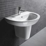 500x460x840mm D206 Bathroom unique Pedestal wall hung wash basins cloakroom sink Manufactures