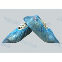 PP / SMS Blue Non Woven Disposable Surgical Shoe Covers For Hospital / Laboratory Manufactures