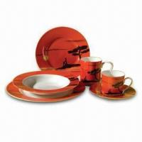 20-piece Porcelain Dinnerware, Customer's Designs are Welcome Manufactures
