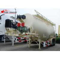 White Three Axles Carbon Steel Dry Bulk Truck Carriers Max Payload 80 Tons Manufactures