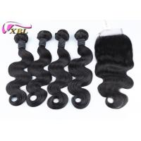 Quality 8-38 Inch Human Hair Extensions With Lace Closure Bundles Deal For A Full Head for sale