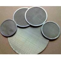316L Stainless Steel Wire Mesh Filter Screen For Food Industry 0.12mm-2.5mm Thick Manufactures