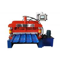 China Step Glazed Roof Tile Roll Forming Machine Shaft Diameter ¢70mm 13 Rows Rollers on sale