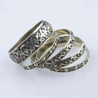 Iron Bangle Set with Antique Bronze Plating, Ideal for Summer/Winter, Vintage Style, Good Quality Manufactures