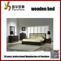 China Natural and Elegant  solid wood double bed on sale