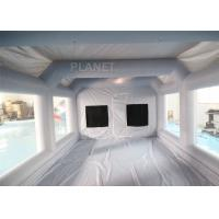Quality Grey Moveable Inflatable Car Paint Spray Booth With Filter System 6x4x2.5m for sale