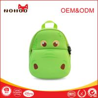 Softback green Baby Toddler Backpack Lovely Hippo Shape 31*27*11.5cm Manufactures