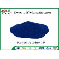 Environmental Friendly Dye Powder Reactive Brill Blue WRE C I Blue 19 100% Strength Manufactures